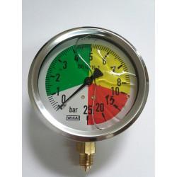 Manometr glicerynowy do opryskiwacza m100 0-8/25 bar GW. 1/4″