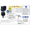 Elektryczny zawór regulacyjny proporcjonalny (żółty) 150l/min