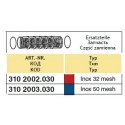 Вклад фільтра всмоктуючого 70x100, 32-mesh (сітка) ARAG