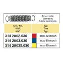 Suction filter insert 78x167, 32-mesh ARAG