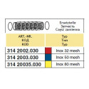 Вкладыш фильтра засасывающего 78x167, 80-mesh (сетка) ARAG/ АРАГ