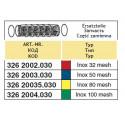 Вкладыш напорного фильтра  58x210, 80-mesh (сетка) ARAG/ АРАГ