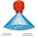 Extended pressure range flat spray nozzle  XRC TEEJET molded into Quick TeeJet cap