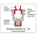 Подвійні плоскоструменеві розпилювальні кінцівки з обмеженням знесення  DGTJ60 TwinJet TEEJET/ Тіджет