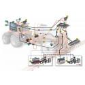 Kabel zasilania 7-sekcji wody BRAVO 400s i BRAVO 300s RCU