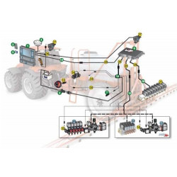Kabel zasilania 9-sekcji hydrauliki BRAVO 400s i BRAVO 300s RCU