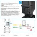 Elektryczny zawór kulowy 3-drożny przyłącze widełkowe dolne, UHMW, ARAG