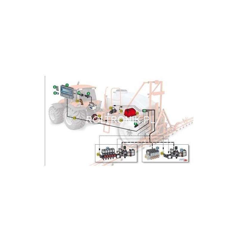 Kabel zasilający 7-sekcji i czujniki BRAVO 300s