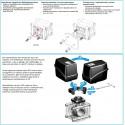 Elektryczny zawór kulowy 3-drożny przyłącze kołnierzowe dolne, UHMW, ARAG
