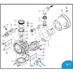 "Fitting 1""1/4 G M-M AR125BP/AR145BP 760860 Annovi Reverberi"