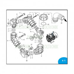 Complete valve  AR45LFP 3129051 Annovi Reverberi