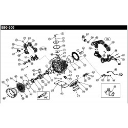 CONNECTOR PUMP B90-300 150025542 BERTOLINI