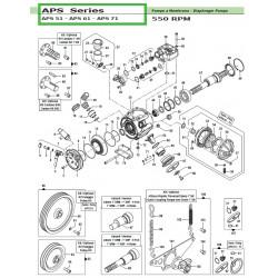 """Cardan Kit 1""""3/8 APS 51 - APS 61 - APS 71 50030007 Comet"""