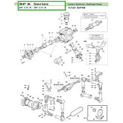 Connecting Rod Ass.y  BP 151 K - BP 171 K 02050038 Comet