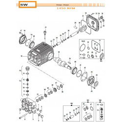 Complete Valve Kit Basse portate - Low Flow SW 50250011 Comet