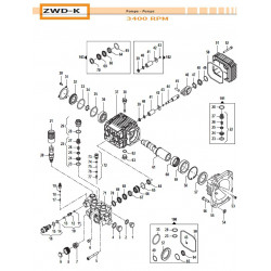 Brass Pump Manifold Ø15 - 4000 psi ZWD-K 32180410 Comet