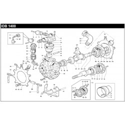 "90 ELBOW CONNECTOR 40-1,57"" PUMP IDB 1400 840592002 BERTOLINI"