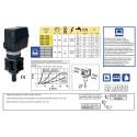 Elektryczny zawór regulacyjny proporcjonalny (żółty) 60l/min