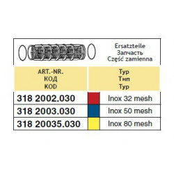2Wkład filtra ssącego 79x109, 50-mesh ARAG