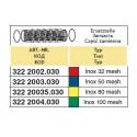 Wkład filtra sekcyjnego/odstojnika 39x88, 80-mesh ARAG