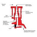 Rozpylacz eżektorowy dwustrumieniowy asymetryczny AI3070 TEEJET