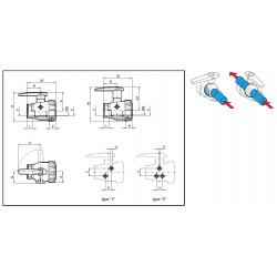 Zawór kulowy 2-drożny 1″, ARAG