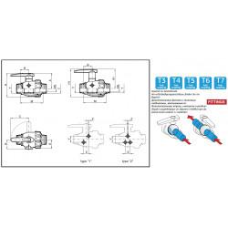Zawór kulowy 2-drożny T7, ARAG