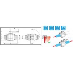 2-way ball valves T6 453, ARAG