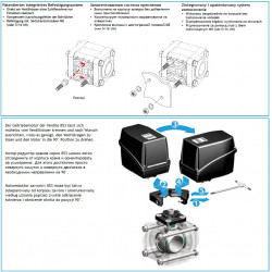 2-way ball electric valve threaded coupling, UHMW, CANbus, ARAG