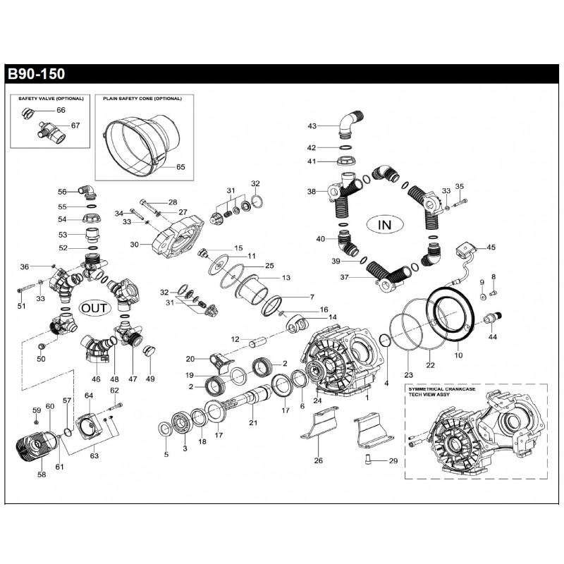 SHAFT SPACER DIA.54,5 PUMP B90-150 160020762 BERTOLINI