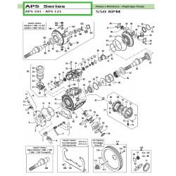 """Flange 1""""3/8-6F APS 101 - APS 121 10090044 Comet"""