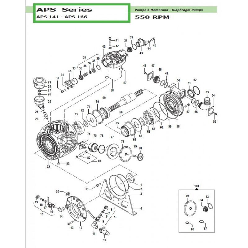 Delivery Hose Tail Ø8x10 APS 141 - APS 166 28020018 Comet