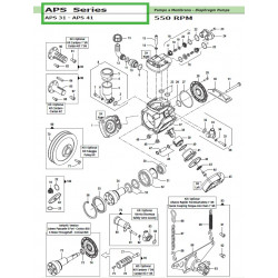 "Cylindric Cardan Kit 1"" APS 31 - APS 41 50030041 Comet"