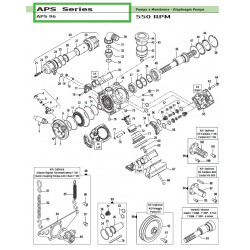 """Cardan Kit 1""""3/8 APS 96 50030007 Comet"""