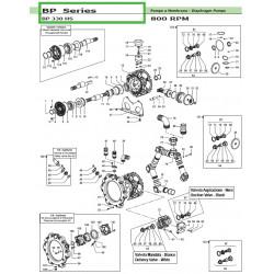 General maintenance kit (NBR) Gomma Nitrilica Buna Rubber BP 330HS 50260360 Comet