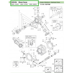 Diaphragm Support Cap  IDS 1501 - IDS 1701 - IDS 2001 04600037 Comet