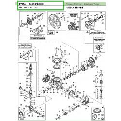 Śruba głowicy MC 20 - MC 25...