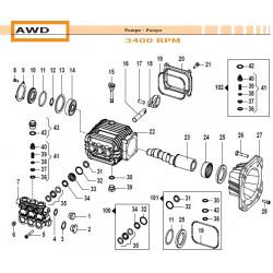 Crankcase Flange  AWD 10040012 Comet