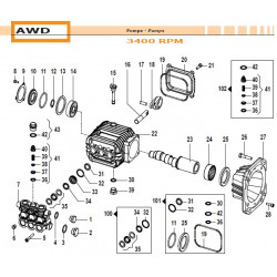 Water Seal Kit Ø14 AWD...