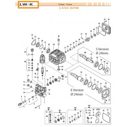 Detergent Knob Kit  LW-K 33010543 Comet