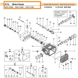 Pump Manifold  CL 32180458...