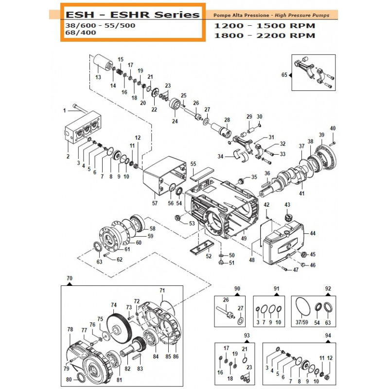 Gear Box Kit   50050262 Comet