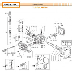 Water Seal Kit Ø14 AWD-K...
