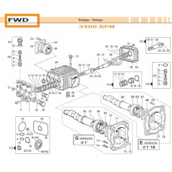 Water Seal Kit Ø18 FWD...