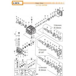 Piston kit Ø18 LWS 24090072...