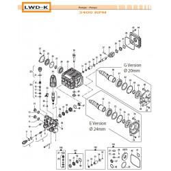 Brass Pump Manifold Ø15 LWD-K 32180313 Comet