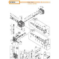 Brass Pump Manifold Ø15 - 4000 psi ZWD 32180324 Comet