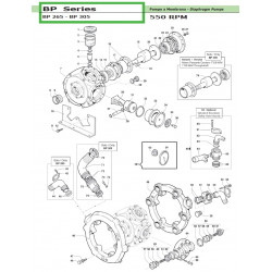 Pump Crankcase  BP 305...