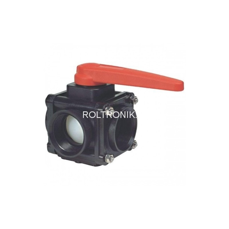 3-way ball valve 1″F - side coupling 453, ARAG