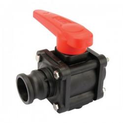 "2-way ball valves 3""F - Camlock 453, ARAG"